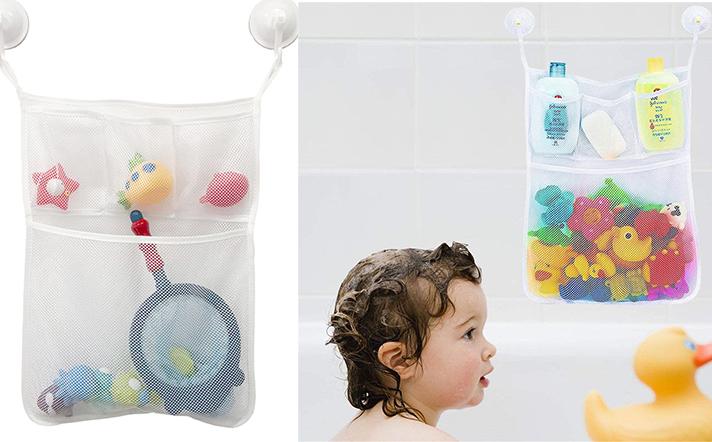 Kids Bath Mesh Bag Tidy Tub Toys Net Baby Storage Pouch