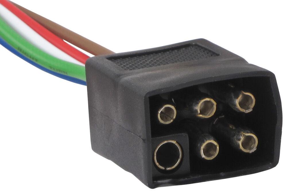 Flat 4 Wire Trailer Connector Wiring Diagram Compare 6 Pole Square Trailer Vs Pollak Black Plastic