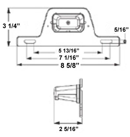 trailer hitch wiring bracket