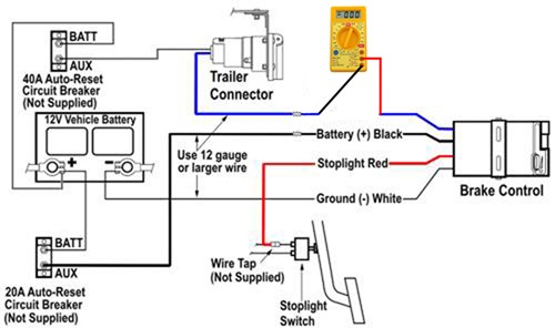 wiring trailer brake away system
