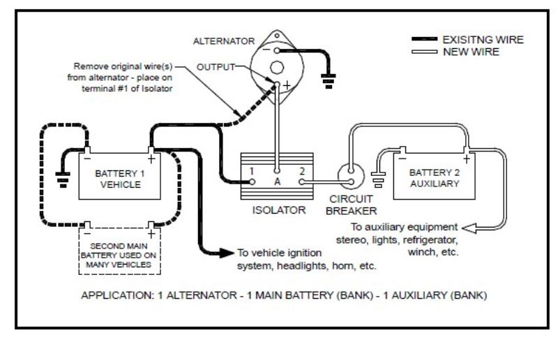 wiring diagram for a multi battery isolator