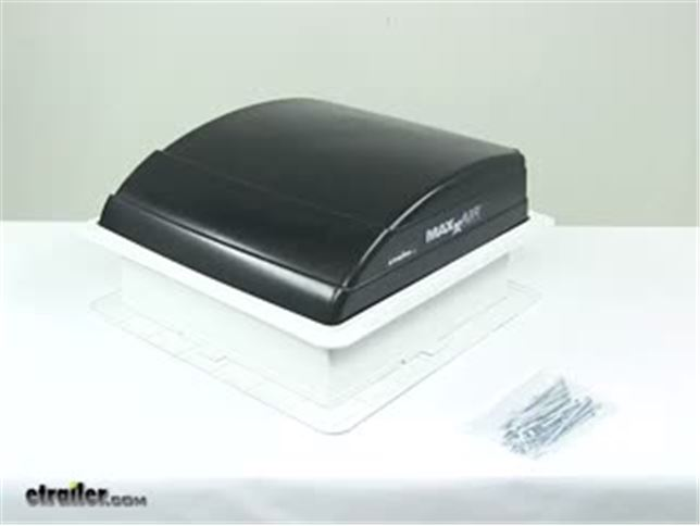 maxxair mini trailer roof vent manual black maxxair rv vents and fans ma00 03750 - Trailer Roof Vent