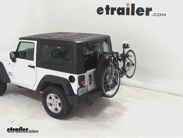 Jeep Wrangler Unlimited Spare Tire Bike Rack Bicycling