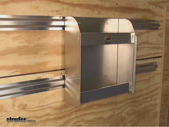 Tow Rax Aluminum Storage Cabinet W 2 Shelves 175quot Tall