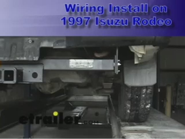 Trailer Wiring Harness Installation - 1997 Isuzu Rodeo Video