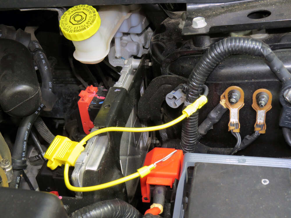 2012 Dodge Journey T-One Vehicle Wiring Harness with 4-Pole Flat