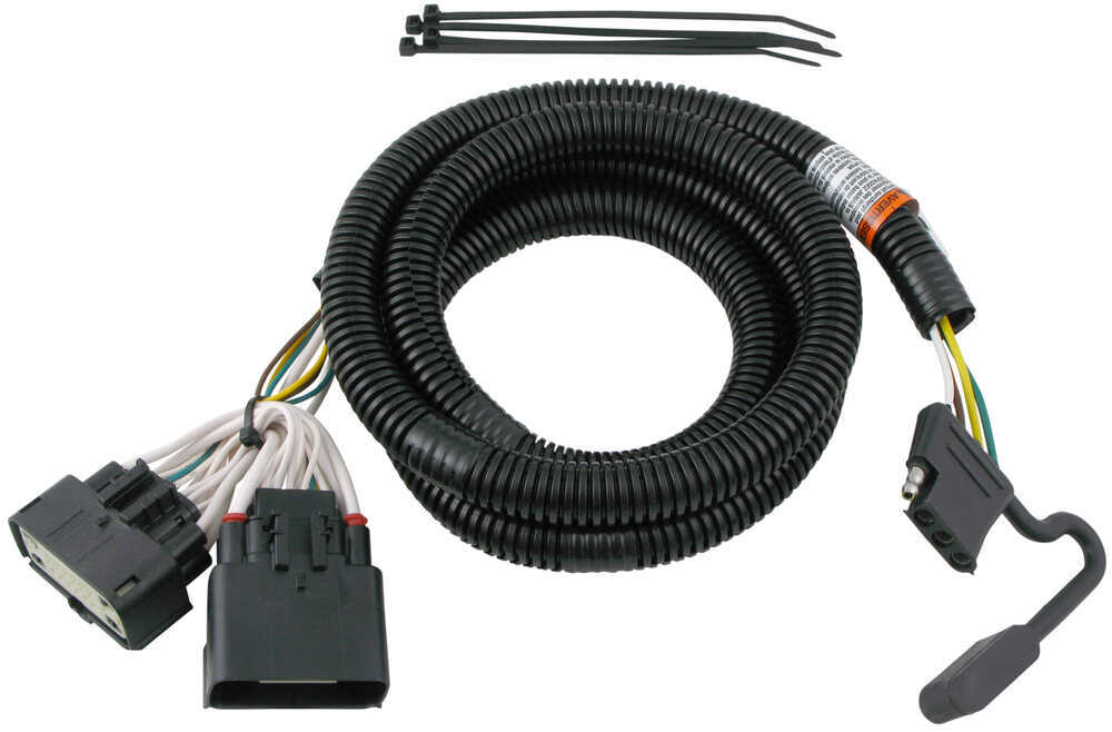Ford Explorer T-One Vehicle Wiring Harness with 4-Pole Flat Trailer