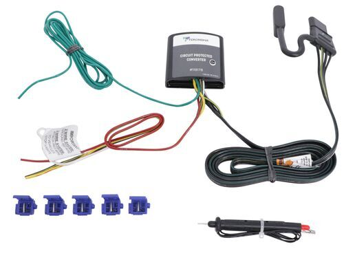 Upgraded Circuit Protected Tail Light Converter Hardwire Kit w/ 4