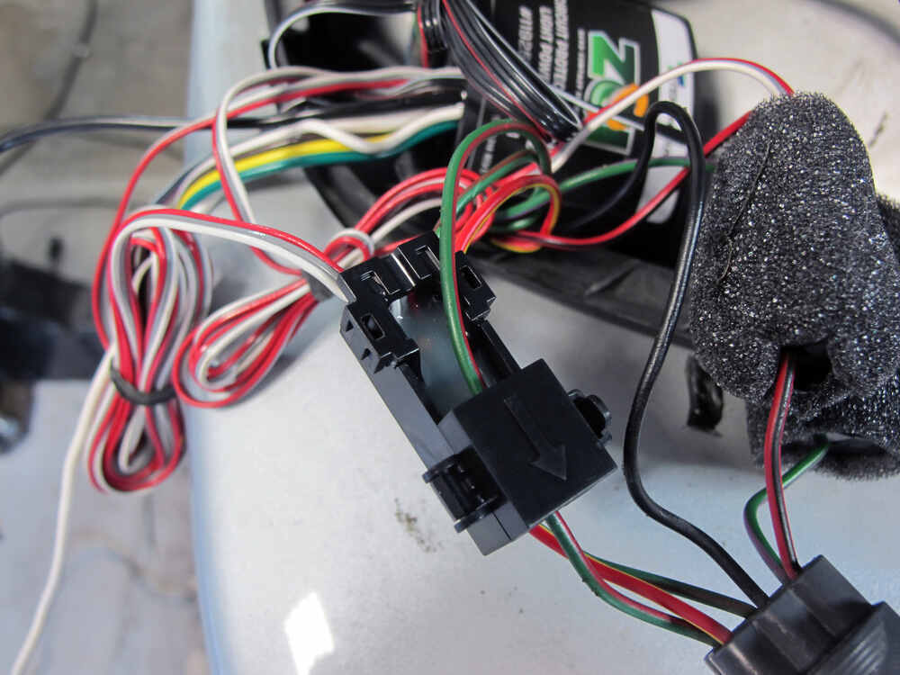 ZCI Circuit Protected Vehicle Wiring Harness w/ 4-Pole Flat Trailer