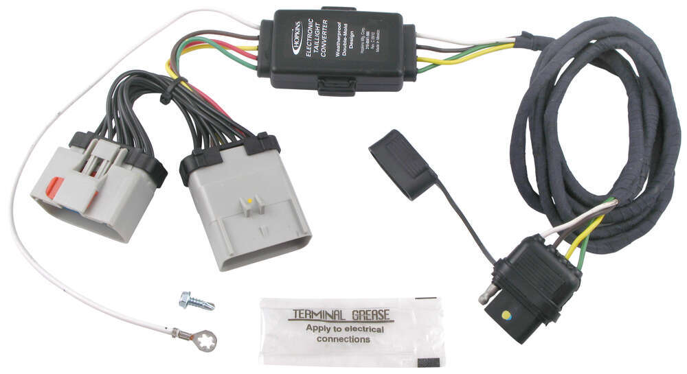 Hopkins Plug-In Simple Vehicle Wiring Harness with 4-Pole Flat