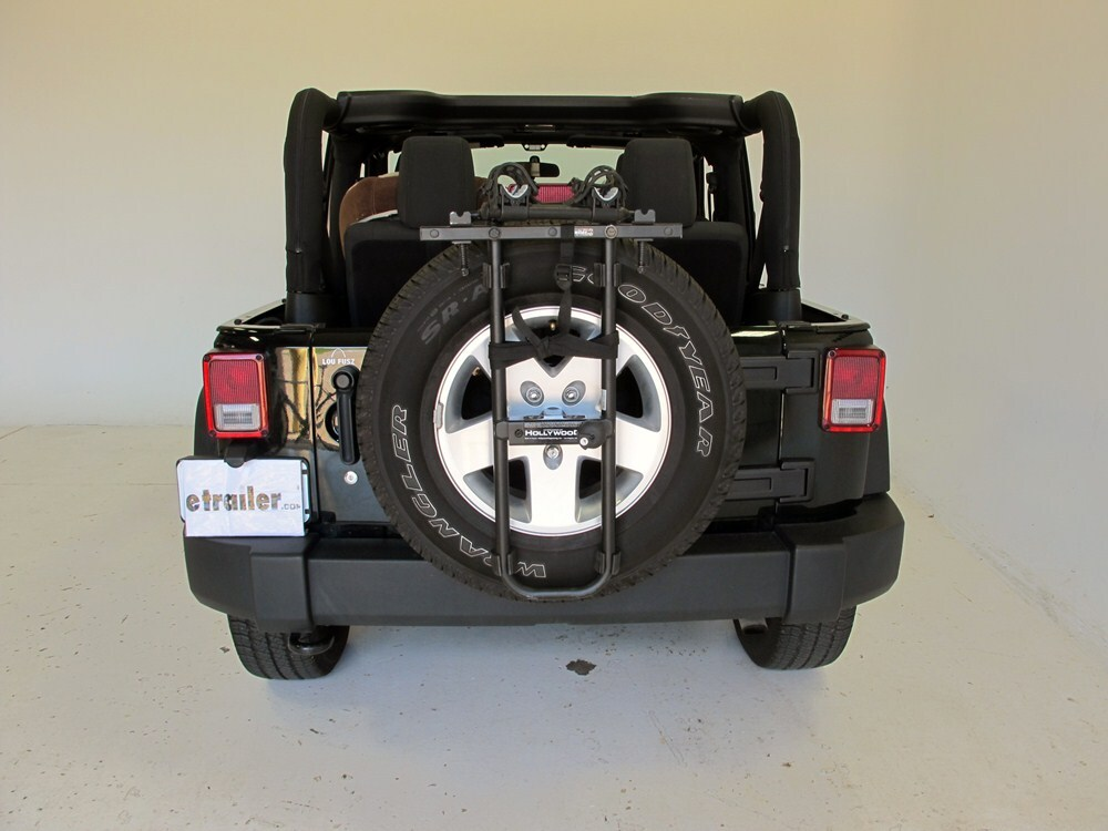 Jeep Yj Hollywood Racks Sr2 2 Bike Carrier Spare Tire Mount
