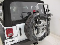 2016 Jeep Wrangler Thule Spare Me 2 Bike Rack - Spare Tire ...