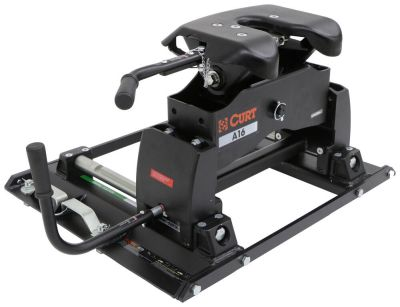 Curt A16 5th Wheel Trailer Hitch w/ Slider for Ford Towing Prep Package - Dual Jaw - 16,000 lbs ...