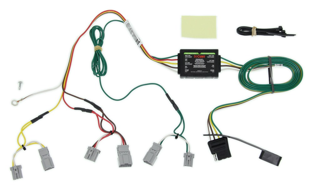 Curt T-Connector Vehicle Wiring Harness with 4-Pole Flat Trailer