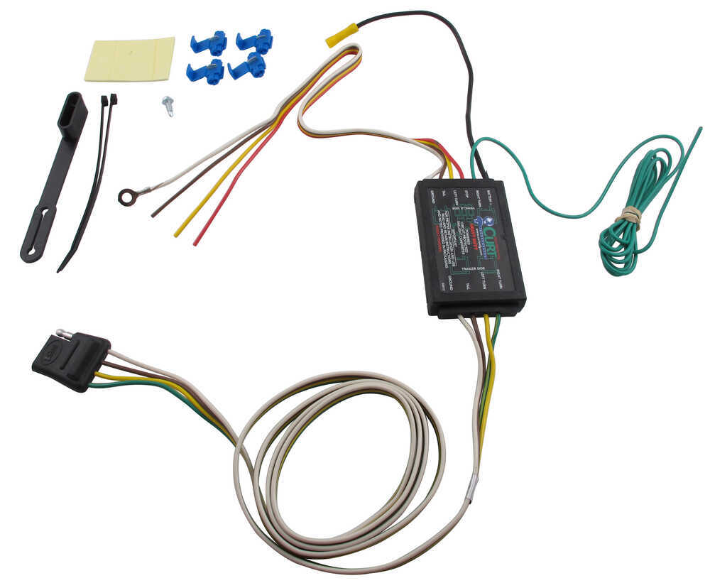 Flat 4 Wire Trailer Connector Wiring Diagram Curt Powered Tail Light Converter Kit With 4 Pole Flat