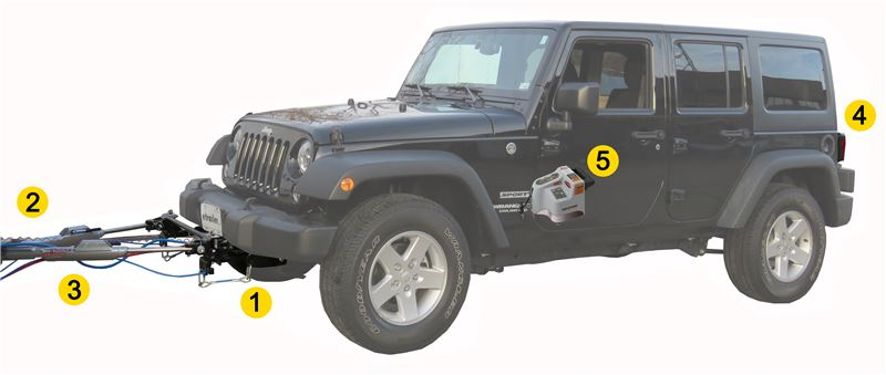 Flat Towing Package for 2007-2018 JK Jeep Wrangler and Wrangler