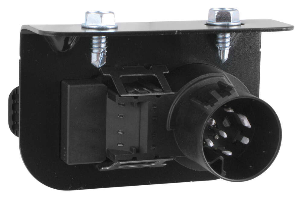 7- and 4-Pole Trailer Connector Socket w/ Mounting Bracket - Vehicle