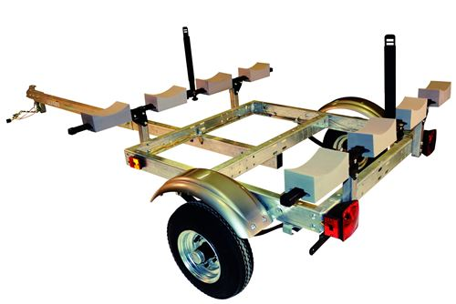 Malone Xtralight Trailer W Post Style Kayak Carrier 58