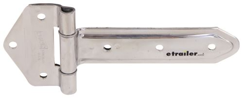 Wide Bracket Strap Hinge Polished Stainless Steel 8