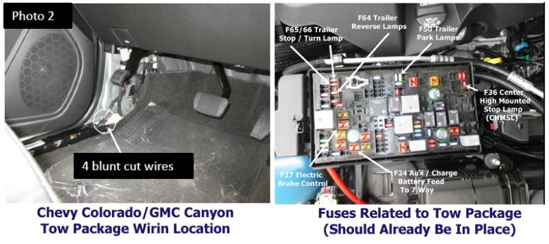 4 Wire Pigtail Diagram Tow Package Wiring Location For Brake Controller Install