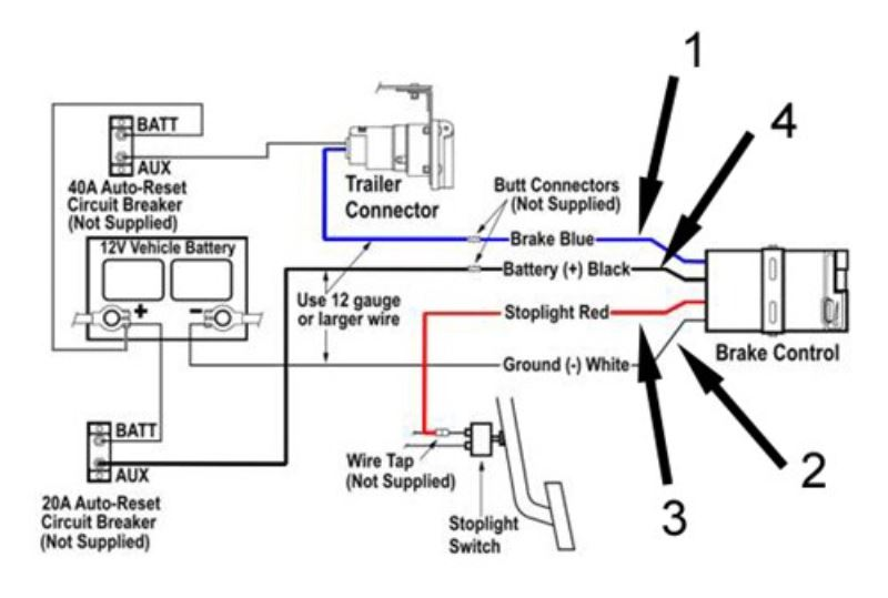 electric trailer brake controller schematic