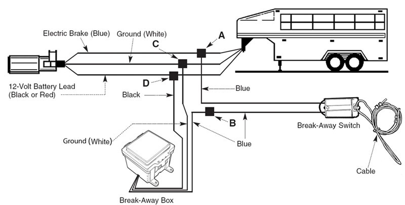 typical trailer brake ledningsdiagram