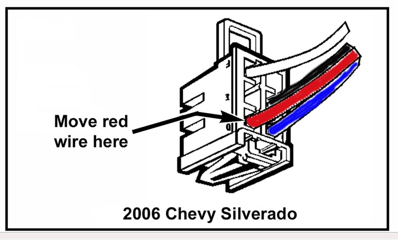 2006 silverado trailer brake wiring harness