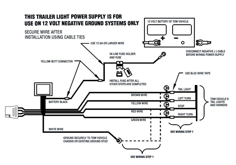 Flat 4 Wire Trailer Connector Wiring Diagram Which Code To Follow To Install Trailer Wiring Harness