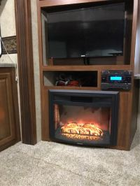 """Greystone 26"""" Curved Electric Fireplace with Remote ..."""