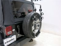 2007 Jeep Wrangler Unlimited Thule Spare Me 2 Bike Rack ...