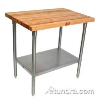 "John Boos - SNS18 - 36"" x 120"" Maple Top Work Table 