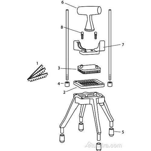 Lincoln/Vollrath Redco InstaDice™ Dicer Parts eTundra