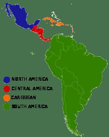 Common subregions in Latin America