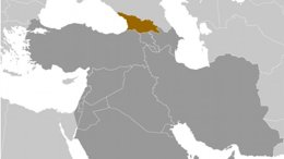 Location of Georgia. Source: CIA World Factbook.