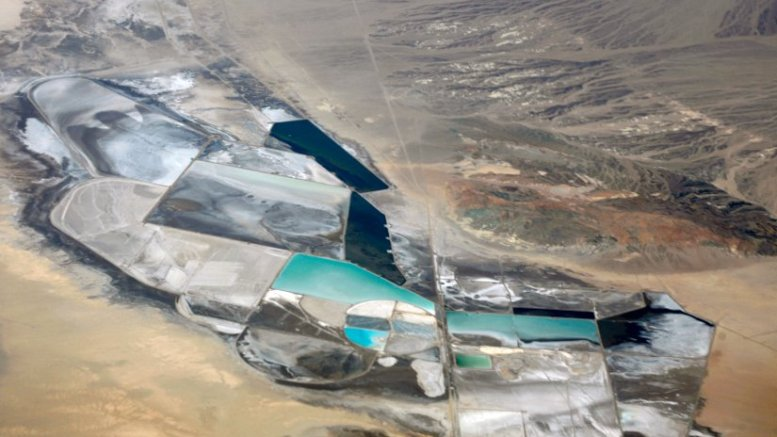 Chemetall Foote Lithium Operation at Silver Peak, Nevada. Photo by Doc Searls, Wikipedia Commons.