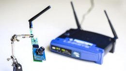 The UW team used ambient signals from this Wi-Fi router to power sensors in a low-resolution camera and other devices. Credit: Dennis Wise/University of Washington