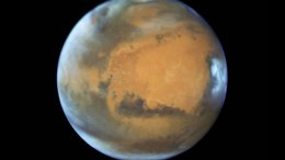 This is a Hubble Space Telescope photo of Mars taken when the planet was 50 million miles from Earth on May 12, 2016. Credit Credits: NASA, ESA, the Hubble Heritage Team (STScI/AURA), J. Bell (ASU), and M. Wolff (Space Science Institute)