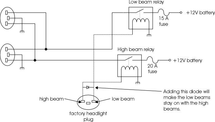 9007 wiring headlights