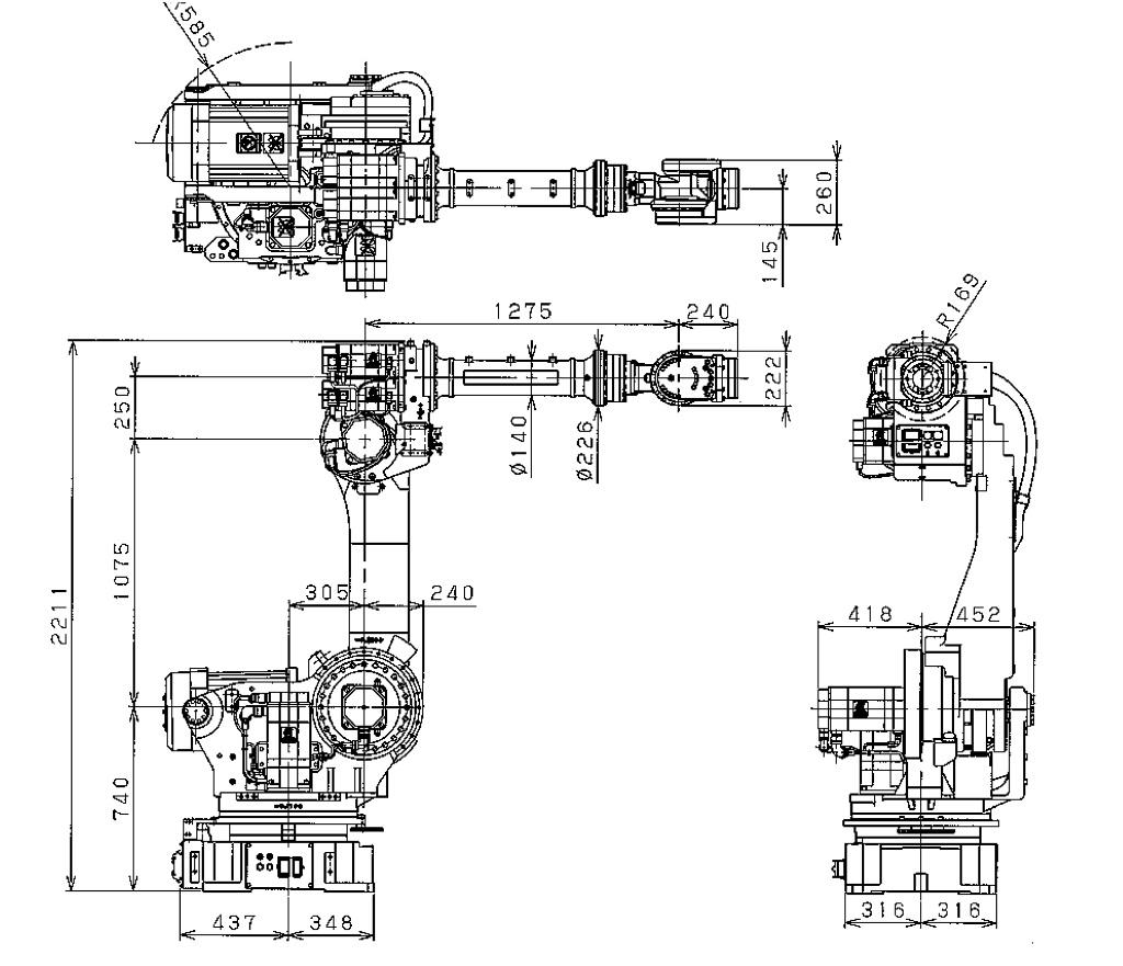 spot welding robot diagram