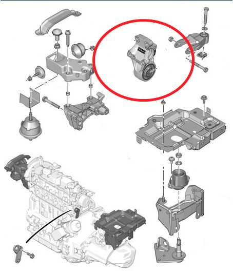 peugeot 307 engine mount diagram