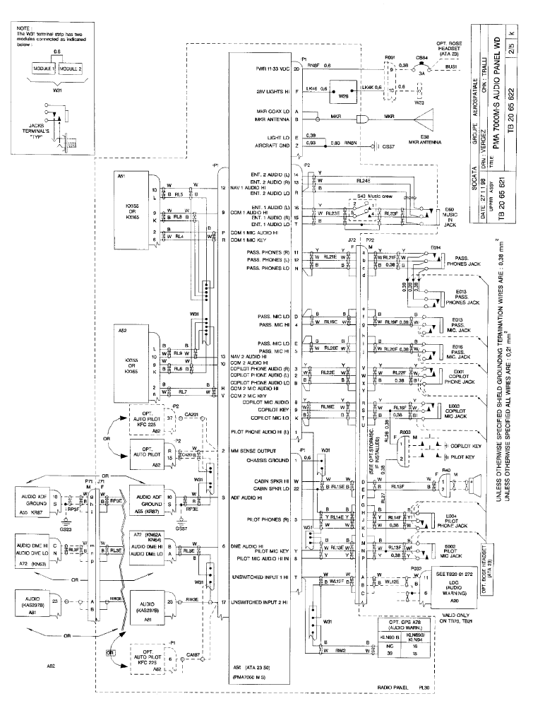 kma 24h audio panel wiring diagram