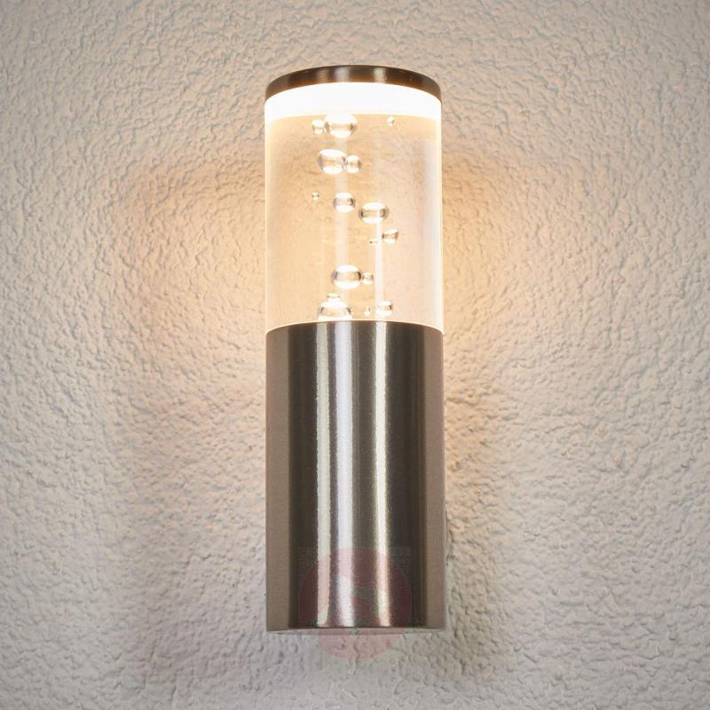 LED outdoor wall light Belen, air bubble design, outdoor-led-lights