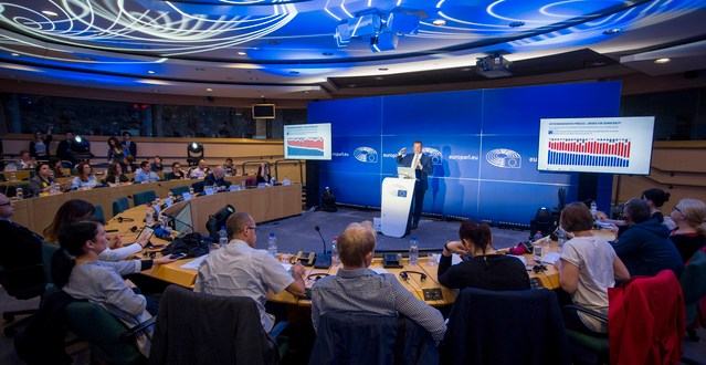 """Press seminar for audio-visual media - ' #EUElections2019 - one year to go '- Eurobarometer """"One year to the EE19"""""""