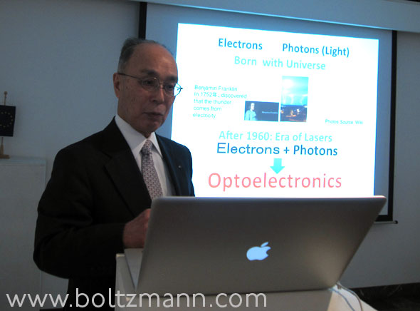 em. President of Tokyo Institute of Technology, Professor Kenichi Iga, inventor of VCSEL