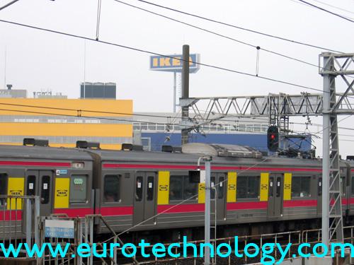IKEA advertisements on JR-East trains