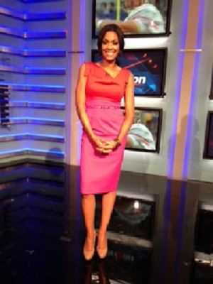 Danyelle Sargent on set at NFL Networks.