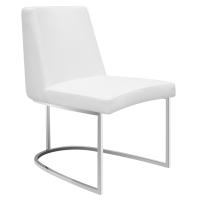 Modern Dining Chairs | Chichi White Side Chair | Eurway