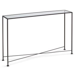 Small Crop Of Glass Console Table