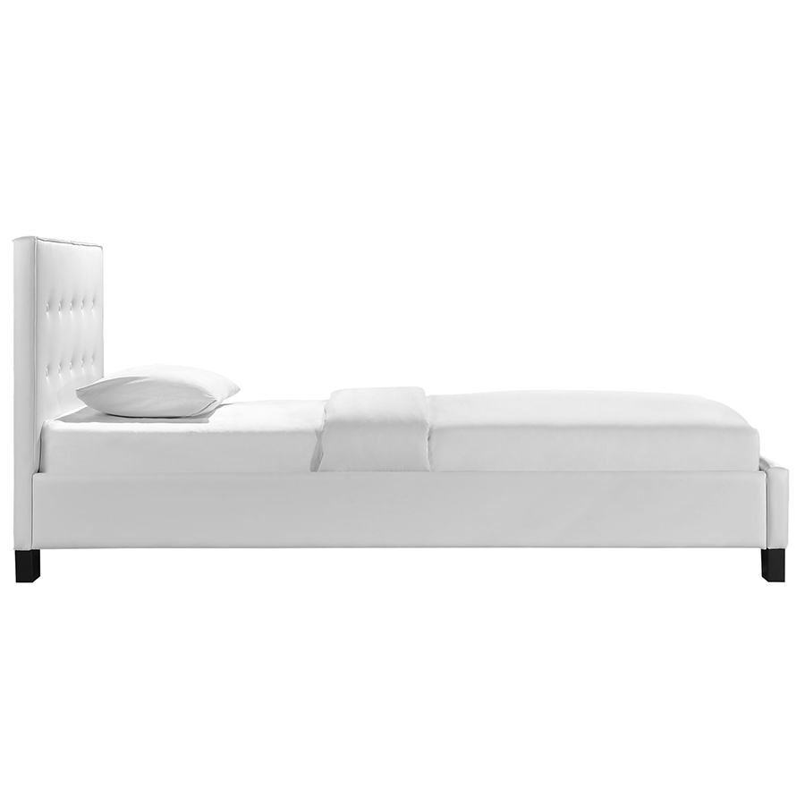 carter white modern twin bed side view