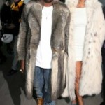 Kanye &amp; his girlie, Amber Rose, all fur&#039;d up